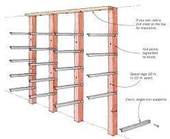 angle iron lumber rack finewoodworking