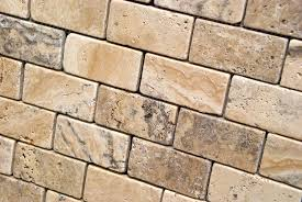 Oracle Tile And Stone by Philadelphia 2 X 4 Tumbled Travertine Brick Mosaic Tile Lot Of