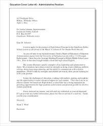 Sample Administrative Cover Letter