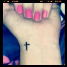 Cross Tattoos For Women On Wrist Photo