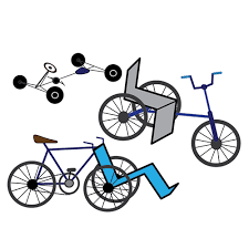 The Illustration Shows Three Types Of Adapted Bikes One Is A Go Cart Style