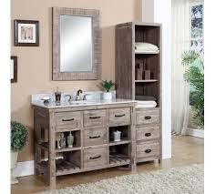 18 Inch Wide Bathroom Vanity by Accos 48 Inch Rustic Bathroom Vanity Matte Ash Grey Limestone Top