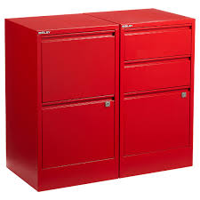 Bisley File Cabinet Replacement Key by Bisley Red 2 U0026 3 Drawer Locking Filing Cabinets The Container Store