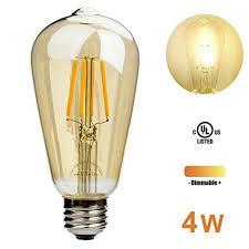 leadleds 4w edison style led bulb glass 40 watt equivalent