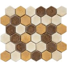 Home Depot Merola Penny Tile by Merola Tile Cobble Hex Tahoma 10 3 4 In X 12 In X 12 Mm Ceramic
