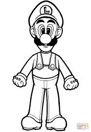 Click The Luigi Coloring Pages To View Printable