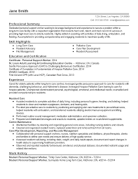 Resume Templates Personal Support Worker