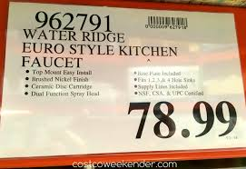 Waterridge Kitchen Faucet Manual by Bathroom Delectable Water Ridge Pull Out Kitchen Faucet