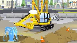 100 Construction Trucks Video Real Diggers Excavator Truck Colors For Children Learning