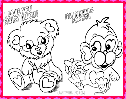 Lovely Design Kids Valentine Coloring Pages Free Printable Valentines Day