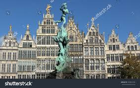 100 Where Is Antwerp Located Brabo Fountain On Great Stock Photo Edit
