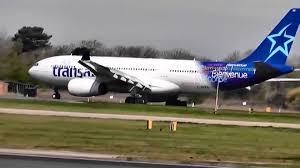 air transat lyon montreal the azores glider air transat airbus a330 243 c gits
