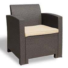 Winsday Patio Resin Plastic Rattan Pattern Furniture Outdoor Garden Single  Sofa Armchair Outdoor Chair Brown With Beige Cushion (Armchair, Beige) Details About Outdoor Patio Lounge Chair Cushioned Weatherproof Polypropylene Resin Brown New Restaurant Fniture Wicker Ding Tables And Chairs Garden 2 Arm 1 Coffee Table Rattan Sofa Yard Set Gradient Us Stock Exciting White America Luxury Modern Contemporary Urban Design Dark Ideas Rialto 5piece Cast Alinum Black Sand 12 Top Gracious Living Photos Get Ready For Summer Danetti Lifestyle Classic Adirondack Rocker Assembly Required Polywood Coastal Folding Mahogany Kiwi Sling