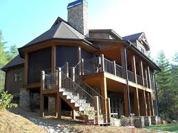 Excellent Design 6 Rustic Mountain House Plans One Story 4 Bedroom Plan With Porches