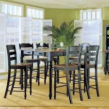 Pub Kitchen Table Set 5 Piece Counter Height Dining Style