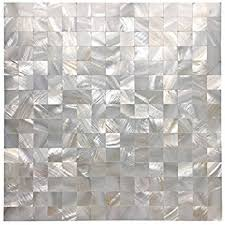 amazon com art3d peel and stick mother of pearl shell mosaic tile