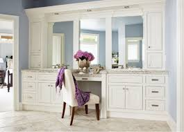 Uncategorized Mesmerizing Dressing Room Interior Design With Beauteous White Table And Cabinet Three Mirrors