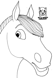 Cute Realistic Horse Head Coloring Pages Pictures Inspiration Tearing