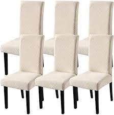 yisun universal stretch stuhlhussen 4er 6er set stuhlbezug für stuhl esszimmer 6er set beige