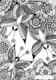 Colouring Pages Butterflies Flowers 1072 Best Adult ColouringAnimalsZentangles Images On