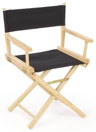 100 Event Folding Chair Directors 18 Wooden With Black Canvas Seat