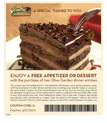 FREE Appetizer Printable Coupon at Olive Garden Wayne NJ