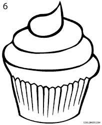 Drawn cupcake easy 1