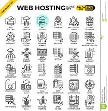 Web Hosting Line Icon Set Stock Vector. Illustration Of Control ... Web Hosting Line Icon Set Stock Vector Illustration Of Control Free Hosting The Top 10 Website Services With No Ads For 2014 11 Review 6 Pros Cons Html Css Templates Top Best Sites 2018 How To Get Unlimited Cpanel For Free Video Wordpress Own Domain And Secure Security Web Space Shared Linux Wordpress Script Mybacklinko 2 Professional Unique Whmcs February