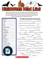 Halloween Mad Libs Free by Mad Libs Zany Tales Fairy Fables
