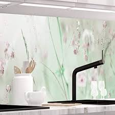 stickerprofis küchenrückwand selbstklebend pro wildblumenwiese 60 x 60cm diy do it yourself pvc spritzschutz
