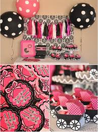 black and pink baby shower centerpieces archives baby shower diy