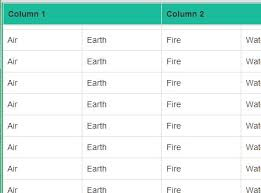 jQuery fixed table header Plugins