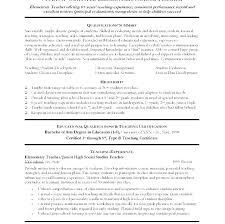 Sample Resume For Teacher With No Experience Preschool