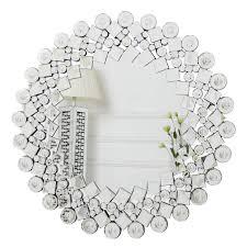 richtop wandspiegel gross mit glitzer jeweled kristall schwarz holz backing glamorous rund silber kosmetikspiegel wandmontage für wohnzimmer flur