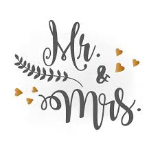 Mr And Mrs SVG Clipart Wedding Annuncment Vector
