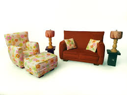 barbie doll living room furniture 9 pc play set 1 6 scale rust