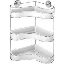 eckregal 3 etagen milazzo regal wand ablagen aufbewahrung korb dusche badregal