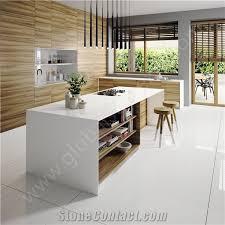 104 Glass Kitchen Counter Tops Pure White Nano Stone Tops From China Stonecontact Com