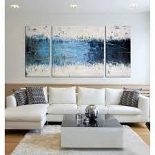 Oliver James Hand Painted Canvas Art Set 3 Pieces