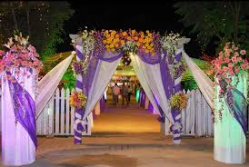 Indian Wedding Hall Entrance Decorations