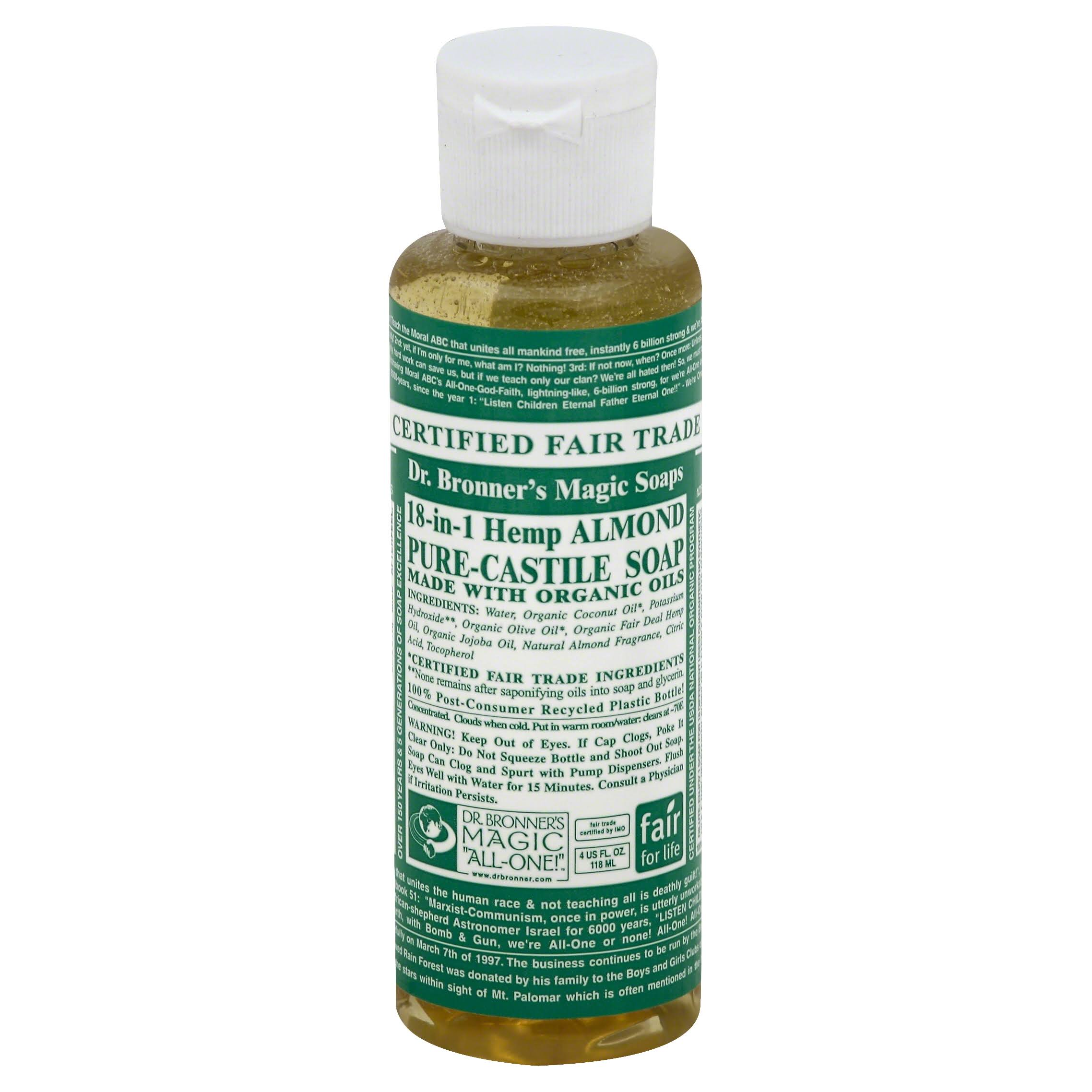 Dr. Bronner's Magic Soaps Pure-Castile Soap 18-in-1 Hemp - Almond