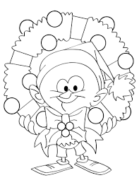 Click To See Printable Version Of Cartoon Guy Holding Christmas Wreath Coloring Page