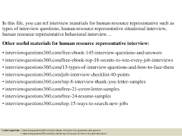 2 In This File You Can Ref Interview Materials For Human Resource Representative