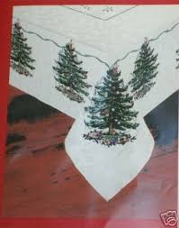 Spode Christmas Tree 60x102 Tablecloth New In Pkg 20737313