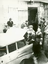 Seventh And Last Man Being Removed From Springhills No 2 Colliery To Waiting Ambulance 1 November 1958 Photo Courtesy Of Nova Scotia Archives