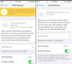 How to do when WhatsApp can t backup with iCloud