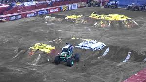 100 Monster Trucks Indianapolis Grave Digger At 2013 Jam In YouTube