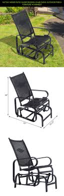 Rattan Wicker Patio Glider Rocking Chair Swing Outdoor Porch ... Noone Haotian Comfortable Relax Rocking Chair Gliderslounge Fniture For Nursery Swivel Rocker Cheap 10 Best Gliders And Baby Chairs Heather Glider In Dove Nice Rockers Home Idea Our Hunt For The Best Nursing Feeding Recliners Product Categories Stewart Roth Babylo Ftstool White Grey Cushion Buy Now Breast Sliding With Costway Patio Bench Double 2 Person Loveseat