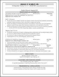 Resume Sample For Icu Nurse Cicu Registered Nursing