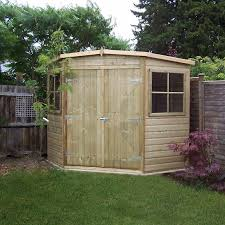 Suncast 7 X 7 Alpine Shed by 7x7 Shiplap Wooden Corner Garden Shed Double Doors Includes Felt